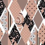 Patchwork seamless pattern texture  on white background Royalty Free Stock Photos