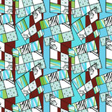 Patchwork seamless retro bright pattern modern background Royalty Free Stock Image