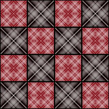 Patchwork seamless retro checkered pattern Stock Images