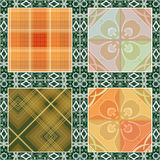 Patchwork seamless retro checkered pattern Royalty Free Stock Photo
