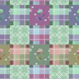 Patchwork seamless retro checkered pattern Stock Photography