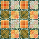 Patchwork seamless retro checkered pattern Royalty Free Stock Photography