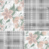 Patchwork seamless retro floral pattern Stock Photos