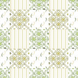 Patchwork seamless retro flowers pattern Royalty Free Stock Photography