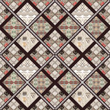 Patchwork seamless retro pattern background Royalty Free Stock Photos
