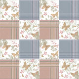 Patchwork seamless retro pattern background Stock Photo