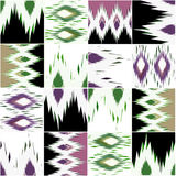 Patchwork seamless retro pattern background Royalty Free Stock Images