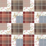 Patchwork seamless retro pattern with buterflies checkered Stock Photography