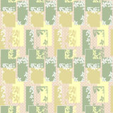 Patchwork seamless retro pattern with flowers Royalty Free Stock Images