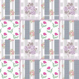 Patchwork seamless retro pattern with flowers checkered Stock Photo