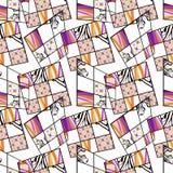Patchwork seamless retro pattern modern background Royalty Free Stock Photos