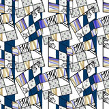Patchwork seamless retro pattern modern background Royalty Free Stock Image