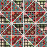 Patchwork seamless retro pattern texture background Royalty Free Stock Photos