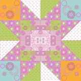 Patchwork seamless retro pattern texture background Royalty Free Stock Image