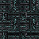 Patchwork seamless snake skin pattern texture Stock Photo