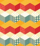 Patchwork. Seamless zigzag pattern. Stock Images