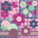 patchwork set with different scrapbook objects Stock Image