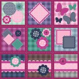 Patchwork set seamless Royalty Free Stock Images