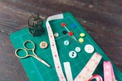 Patchwork sewing tools Stock Photos