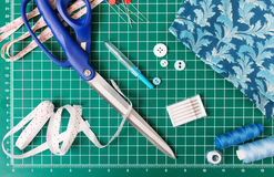 Patchwork sewing tools Royalty Free Stock Images