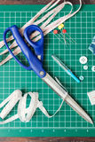 Patchwork sewing tools Royalty Free Stock Image
