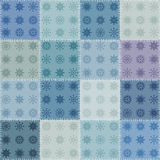 Patchwork with snowflakes. Royalty Free Stock Images
