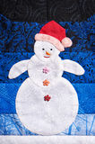 Patchwork snowman Royalty Free Stock Photos