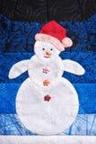 Patchwork snowman Royalty Free Stock Photos