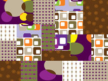 Patchwork squares Royalty Free Stock Images