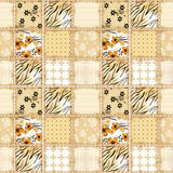 Patchwork squares seamless pattern texture background Stock Photo