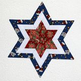 Patchwork Star 3 royalty free stock image