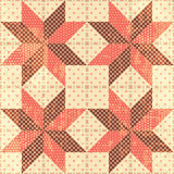 Patchwork stars background. Seamless pattern Royalty Free Stock Image