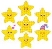 Patchwork stars Stock Photo