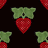 Patchwork strawberry seamless pattern background Royalty Free Stock Image
