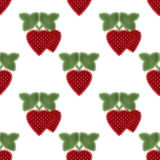 Patchwork strawberry seamless pattern background Royalty Free Stock Photography