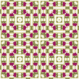 Patchwork strawberry seamless pattern white background Royalty Free Stock Photo
