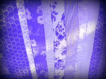 Patchwork stripes united in ultraviolet royalty free stock photography