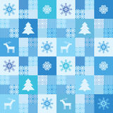Patchwork style christmas background Royalty Free Stock Image