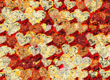 Patchwork style picture of many hearts Stock Images