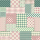 The patchwork in style shabby chic. Royalty Free Stock Photo