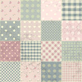 Patchwork in style Shabby chic Royalty Free Stock Images