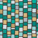 Patchwork style tribal bricks seamless texture, pastel colors Stock Photography