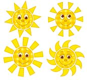 Patchwork suns Stock Images