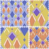 Patchwork tekstury bezszwowy geometrical deseniowy tło z r Fotografia Stock