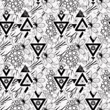 Patchwork tekstury bielu bezszwowy kwiecisty deseniowy tło Zdjęcie Royalty Free