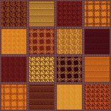 Patchwork background with different patterns stock photos