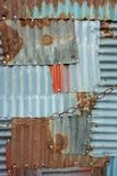 Tinplate full of patch patterns. Patchwork of tinplates full of spliced patches Stock Photography