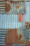 Tinplate full of patch patterns. Patchwork of tinplates full of spliced patches Stock Image
