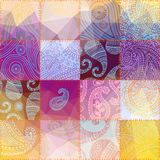 Patchwork with transparency effect. Royalty Free Stock Photography