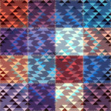 Patchwork with triagles ornament Stock Photo